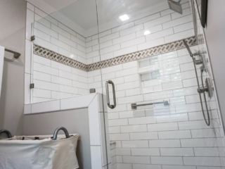 Beautiful New Tile Shower That Was Enlarged.