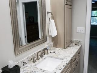 Under Mounted Sink In Granite Counter Top In Bathroom Vanity Apex NC