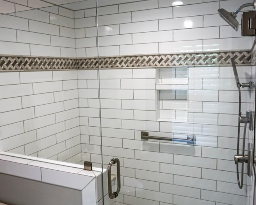 Another View Of A New Tile Shower Surround.