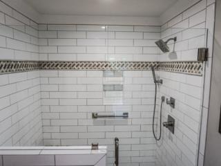 Tile Shower Surround With Frameless Glass Door