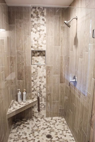 Tile or Stone Showers Wake County North Carolina.
